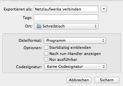 Mac OS X - Netzlaufwerke per Skript verbinden