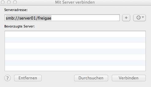 Netzlaufwerke unter Mac OS X