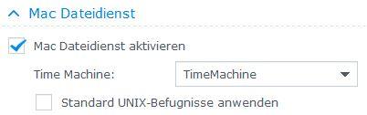 DiskStation als Time Machine einrichten