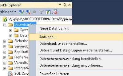 WSUS Datenbank verschieben