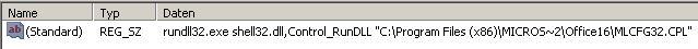 Systemsteuerung Mail 32bit wiederherstellen