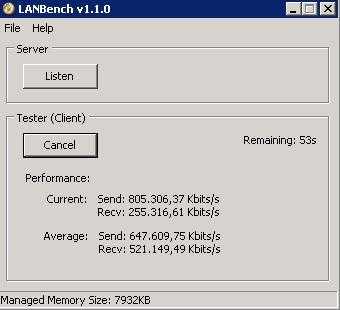 Datendurchsatz im Netzwerk messen mit LANBench