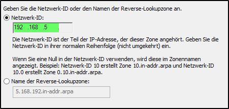 DNS-Server konfigurieren - Reverse-Lookupzone
