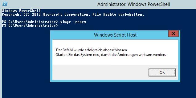 Windows Testversion verlängern