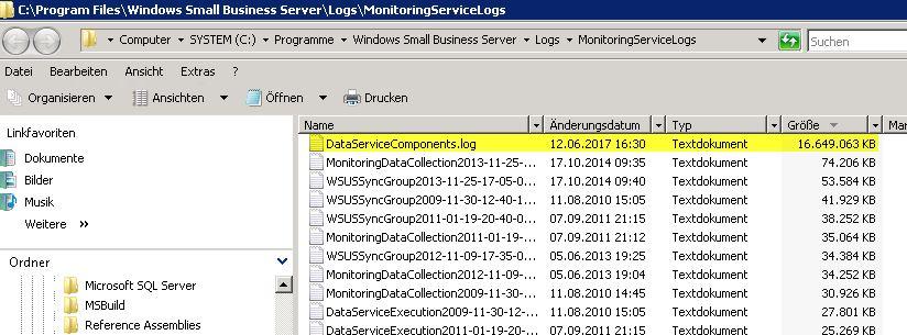 DataServiceComponents.log löschen