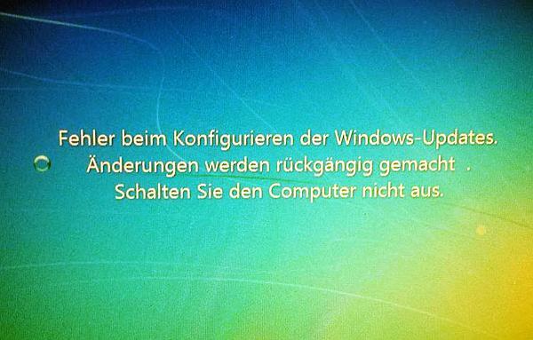 Fehler Beim Konfigurieren Der Windows Updates