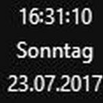 Sekunden in der Windows Taskleiste anzeigen