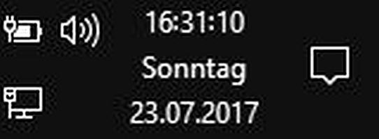 Windows Uhrzeit Sekunden anzeigen