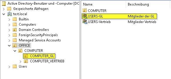 Anmeldung am Computer verweigern - Gruppen und OUs