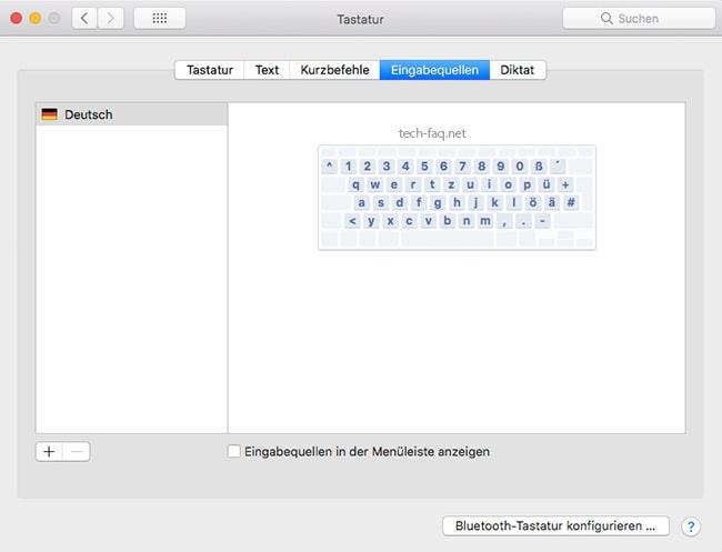 Sonderzeichen auf der Mac Tastatur