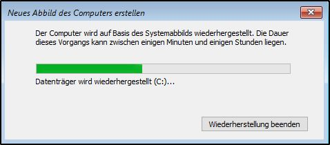 Systemabbild wiederherstellen - Windows-Server-Sicherung