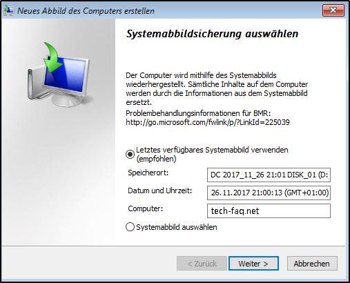 Windows Image Recovery