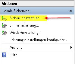 Windows Server Sicherung konfigurieren
