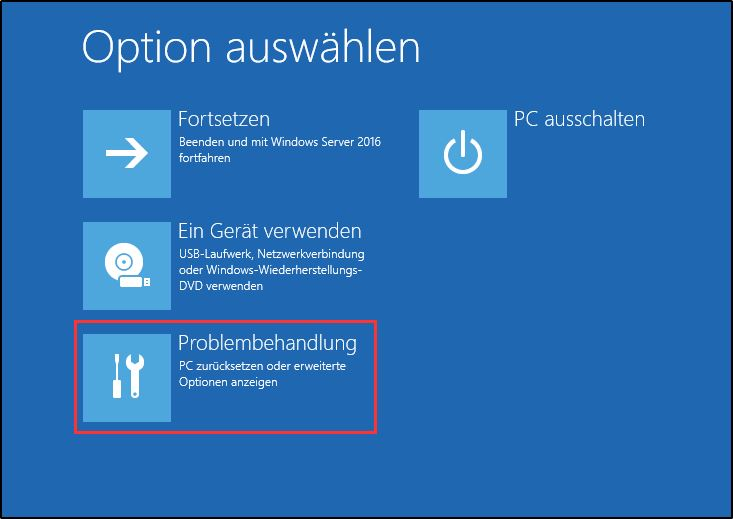 Windows Server Sicherung Recovery - Problembehandlung