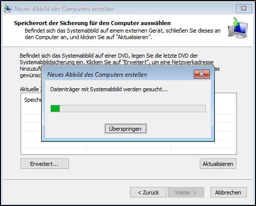 Windows Serversicherung wiederherstellen - Auswahl des Backups