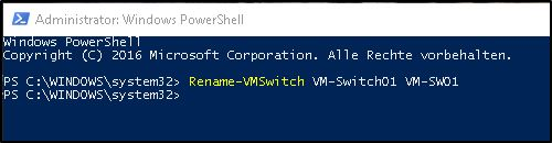 Virtuellen Switch umbenennen in Hyper-V