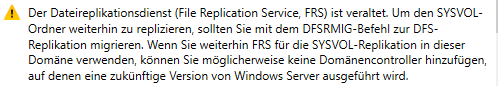 DFS-Replikation (Meldung in Windows Server)