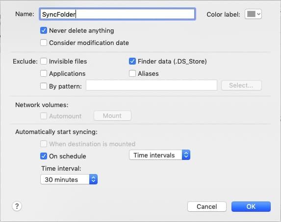 Sync Folder MacOS
