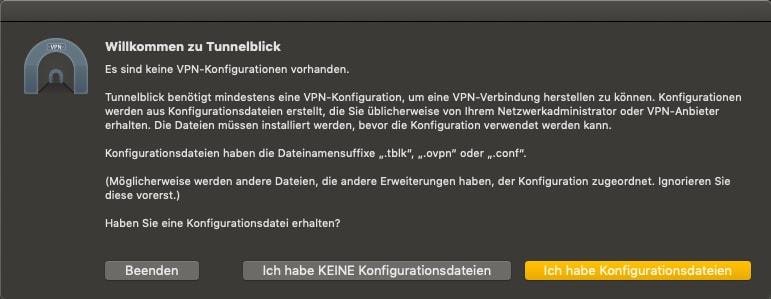 MacOS VPN Client installieren