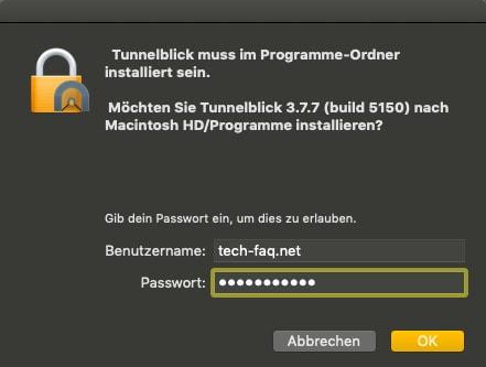 VPN Client auf Mac installieren