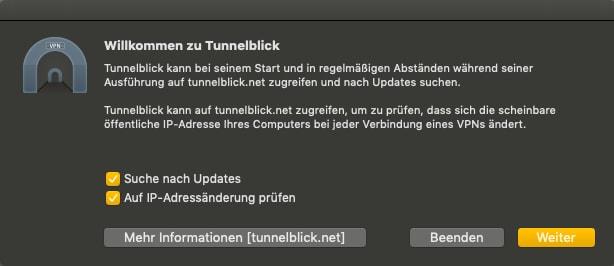 VPN Zugang einrichten am Mac
