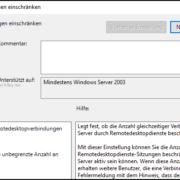 Mehrere gleichzeitige Remotedesktopverbindungen zulassen