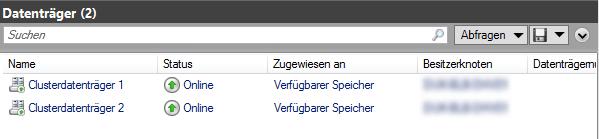 Hyper-V - verfügbare Datenträger