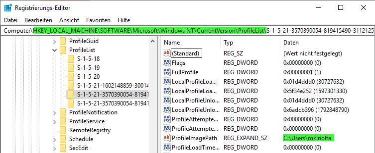 Windows Benutzerprofil zurücksetzen