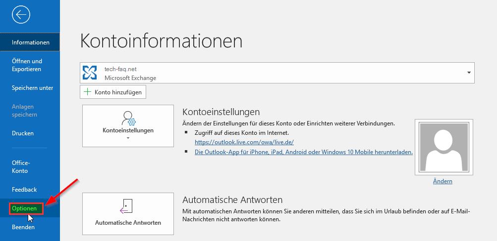 Outlook E Mail Signatur ändern Office 2016 2019 365