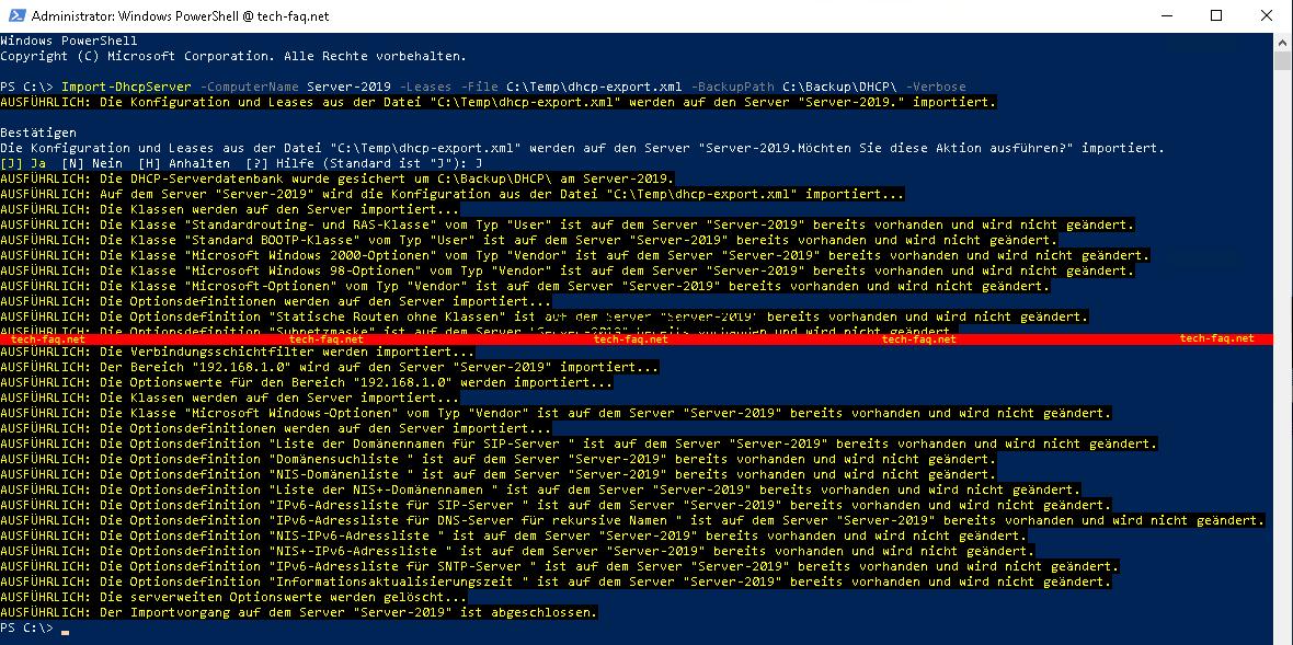 DHCP Server umziehen