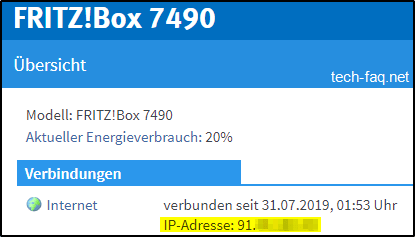 Fritz!Box - Öffentliche IP-Adresse