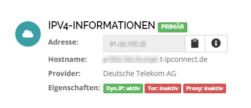 Öffentliche IP-Adresse ermitteln