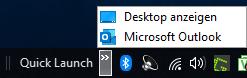 Schnellstartleiste aktivieren in Windows 10