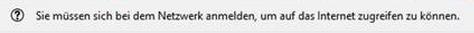 Sie müssen sich bei dem Netzwerk anmelden - Firefox