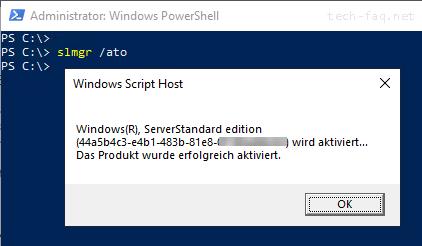 Windows per PowerShell aktivieren