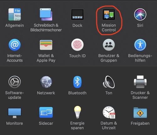 Konfigurieren der aktiven Ecken in MacOS