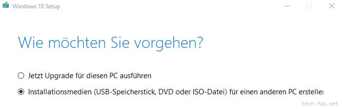 Windows 10 vom Stick installieren
