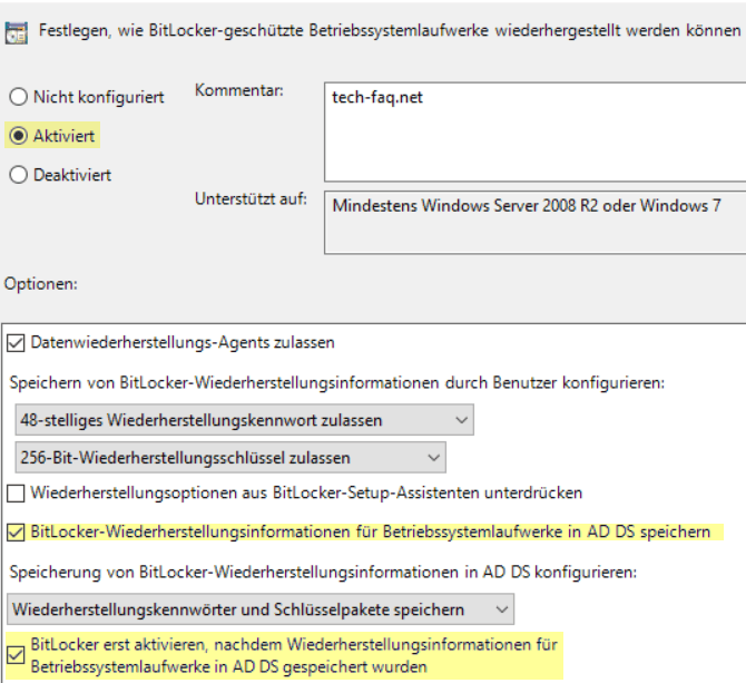 BitLocker im Active Directory speichern