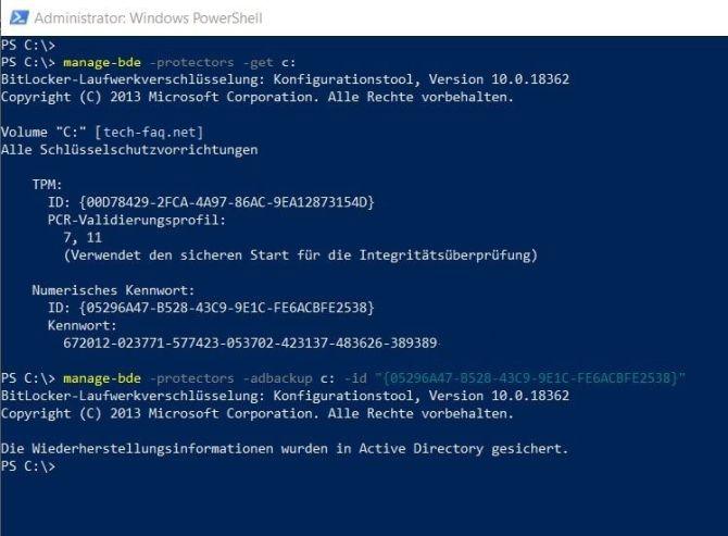 BitLocker nachträglich im Active Directory speichern