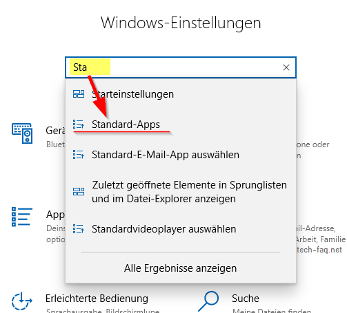Standardbrowser ändern in Windows 10