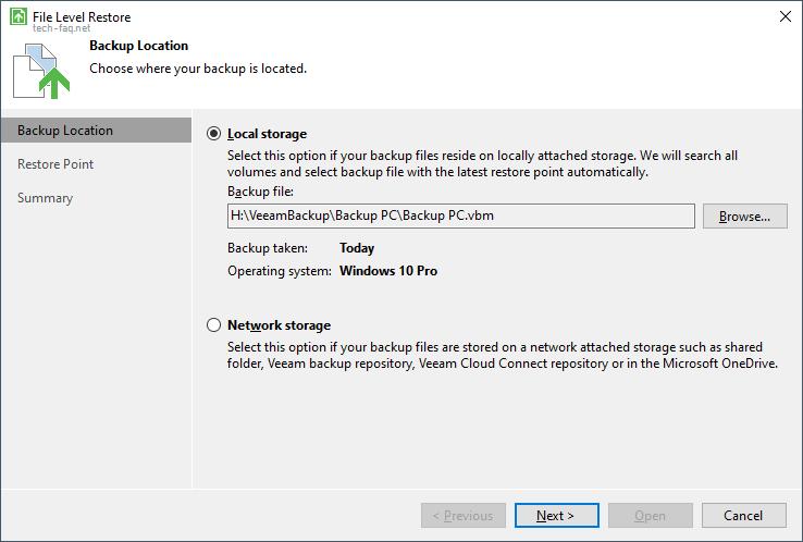 Backup auf externe Festplatte erstellen