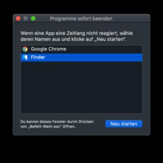 Das Originalobjekt konnte nicht gefunden werden - macOS