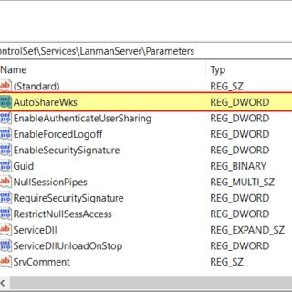 Administrative Freigaben deaktivieren in Windows