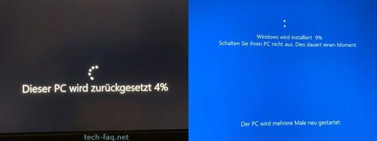 Dieser PC wird zurückgesetzt