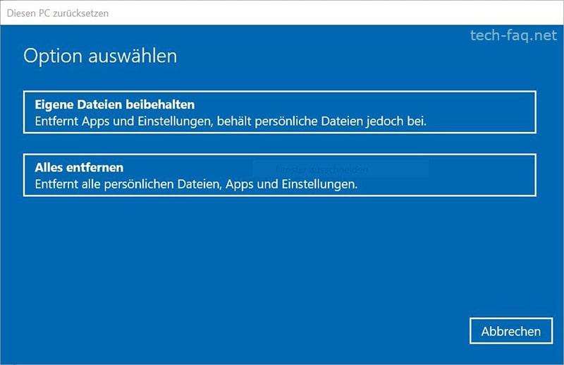 Windows neu aufsetzen