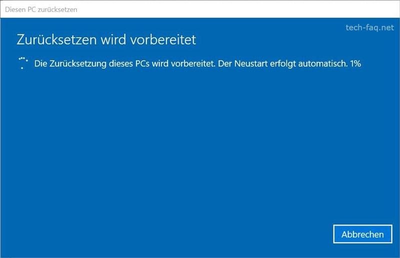 Windows wird neu installiert