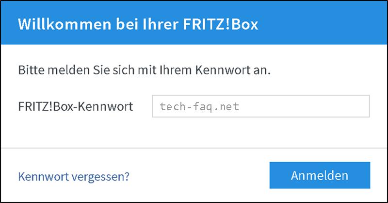 FritzBox Passwort vergeben