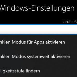 Windows 10 Dark Mode aktivieren