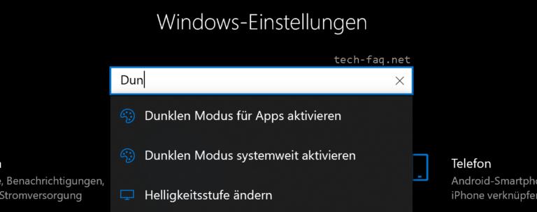 Windows 10 Dark Mode aktivieren