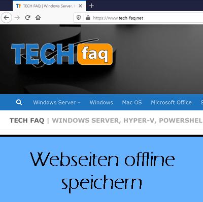 Website offline speichern
